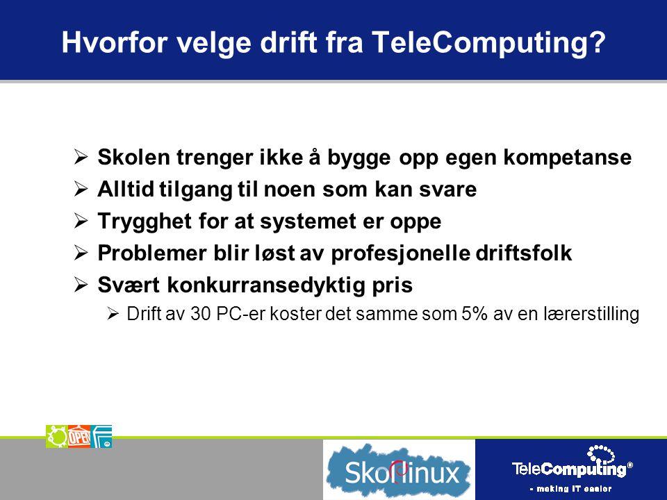 Hvorfor velge drift fra TeleComputing.