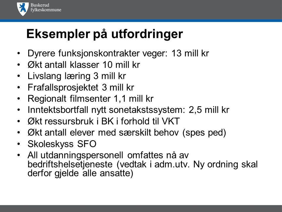 Endringer for 2010 (Statsbudsjettet) Skatteanslaget øker med 800 mk, ca 7-8 mk for BFK.