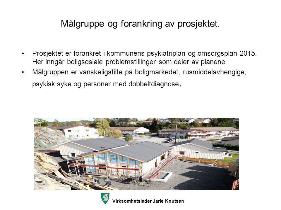 Målgruppe og forankring av prosjektet. Prosjektet er forankret i kommunens psykiatriplan og omsorgsplan 2015. Her inngår boligsosiale problemstillinge