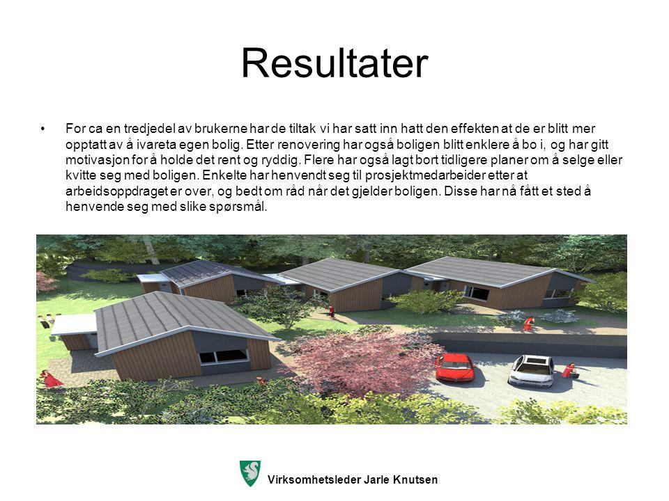 Virksomhetsleder Jarle Knutsen Resultater Motvirke bostedsløshet.