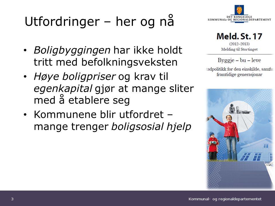 Kommunal- og regionaldepartementet Norsk mal: Diagram Tips farger: KRDs fargepalett er lagt inn i malen og vil brukes automatisk i diagrammer og grafer Boligbyggingen 4