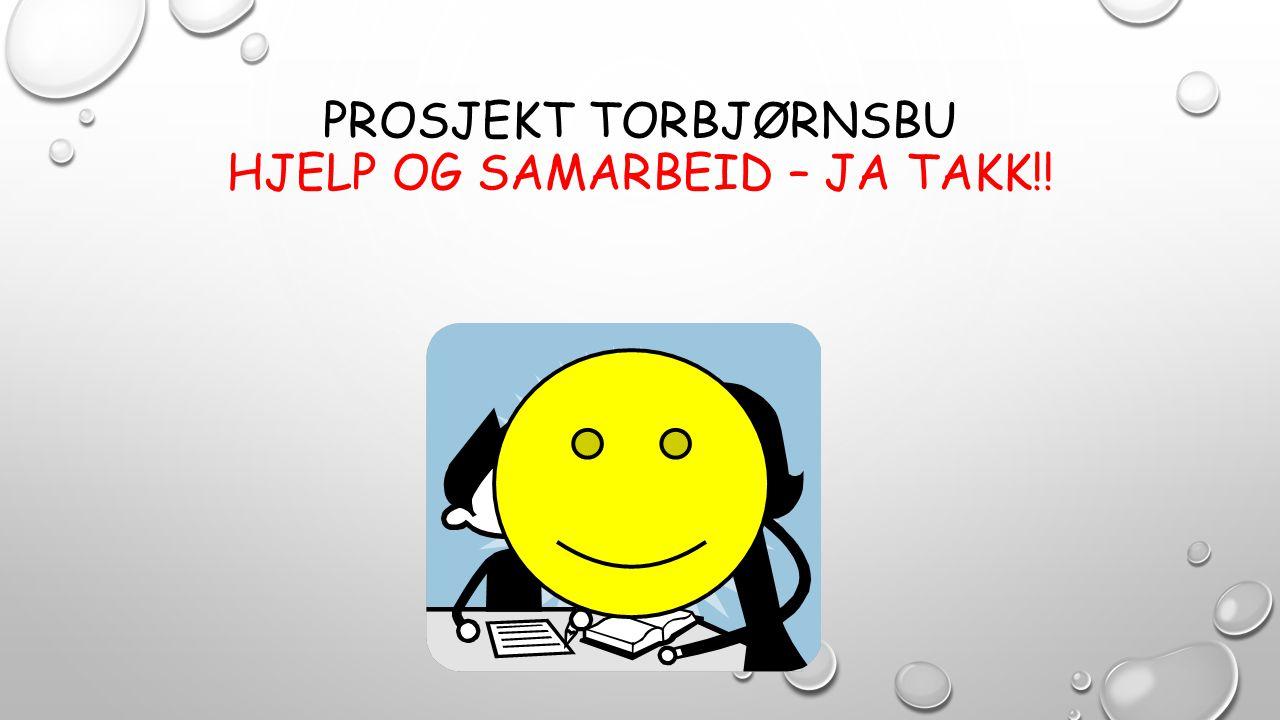 PROSJEKT TORBJØRNSBU HJELP OG SAMARBEID – JA TAKK!!