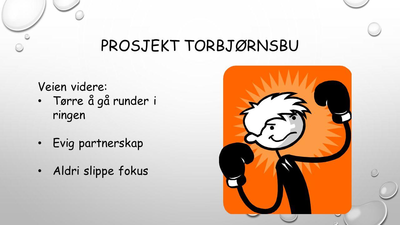 PROSJEKT TORBJØRNSBU Veien videre: Tørre å gå runder i ringen Evig partnerskap Aldri slippe fokus