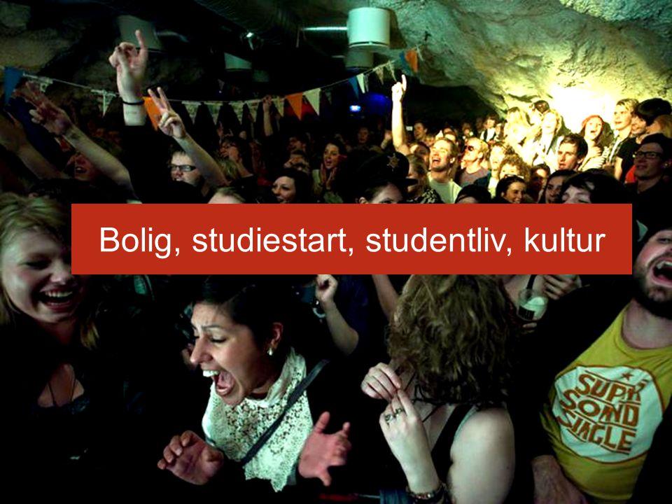 Bolig, studiestart, studentliv, kultur skal det være samme tekst? Den med rød er fra jus, sv og hf.