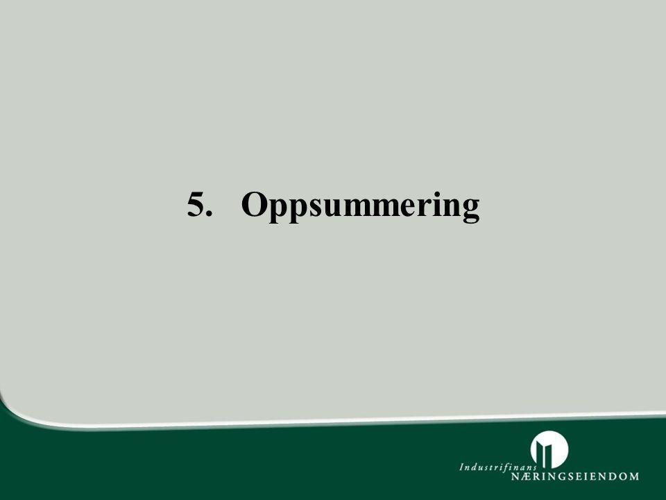 5. Oppsummering