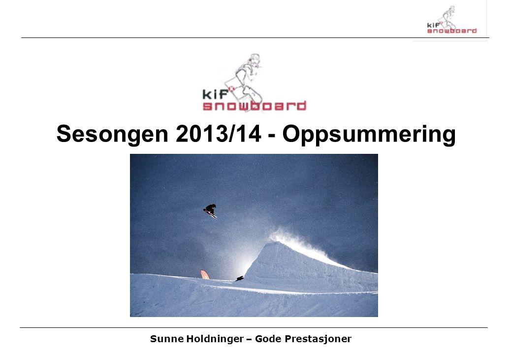 Sunne Holdninger – Gode Prestasjoner Sesongen 2013/14 - Oppsummering
