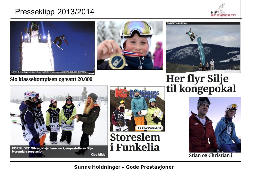 Sunne Holdninger – Gode Prestasjoner Sesongen 2013/2014 Takk til alle som har bidratt i sesongen 2013/2014.