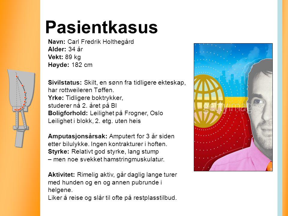 Pasientkasus Sivilstatus: Skilt, en sønn fra tidligere ekteskap, har rottweileren Tøffen. Yrke: Tidligere boktrykker, studerer nå 2. året på BI Boligf