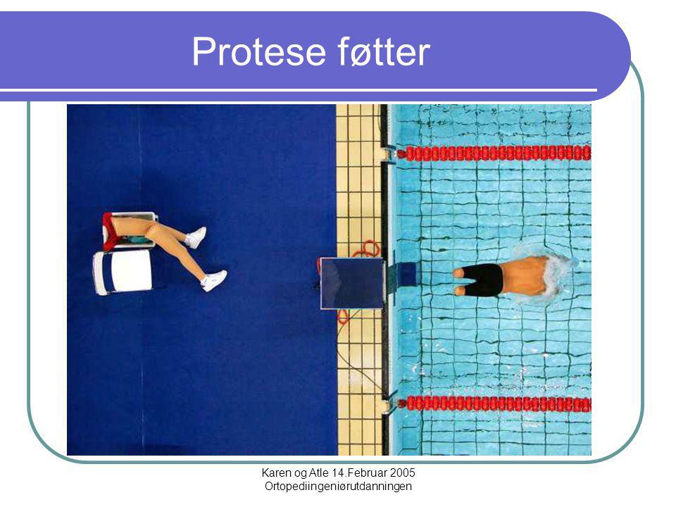 Karen og Atle 14.Februar 2005 Ortopediingeniørutdanningen Protese føtter