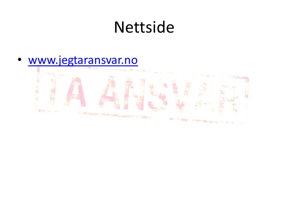 Nettside www.jegtaransvar.no
