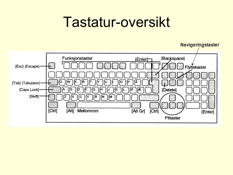 Tastatur-oversikt Navigeringstaster