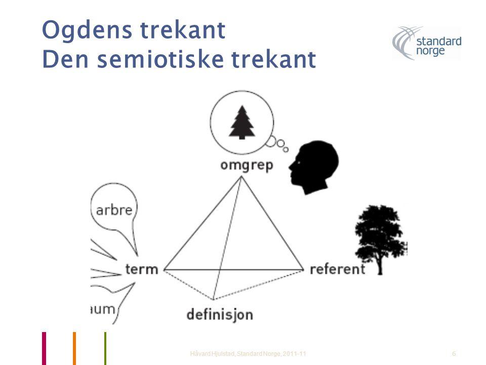 Ogdens trekant Den semiotiske trekant Håvard Hjulstad, Standard Norge, 2011-116