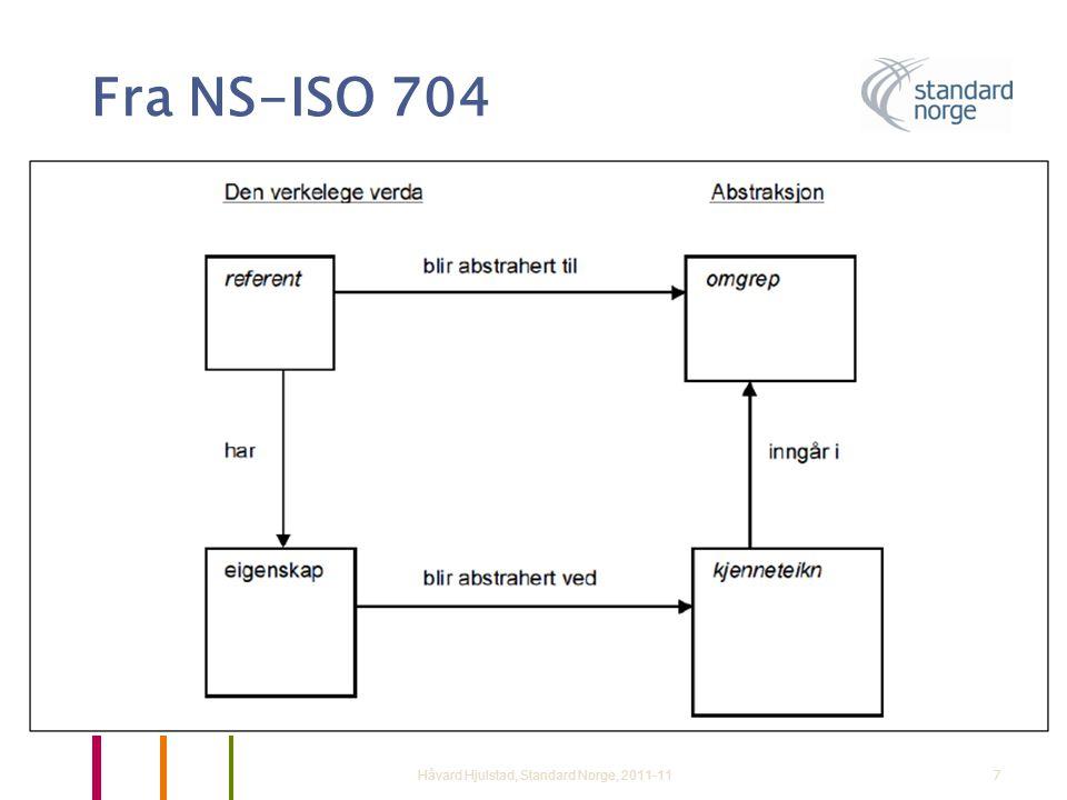 Fra NS-ISO 704 Håvard Hjulstad, Standard Norge, 2011-117