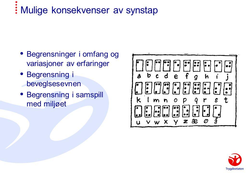Mobilitetshjelpemidler  Hvit stokk  Førerhund  Lykter  Taktile kart  Lydfyr  Diktafoner/ kassettspillere for å lese inn ruter