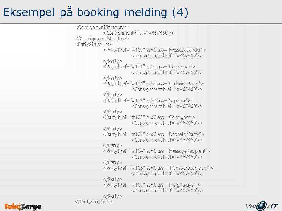 Eksempel på booking melding (4)