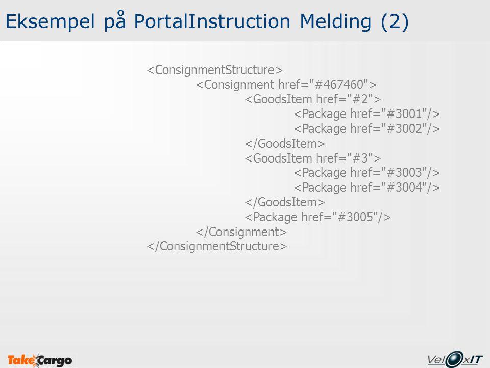 Eksempel på PortalInstruction Melding (2)