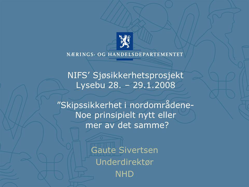 NIFS' Sjøsikkerhetsprosjekt Lysebu 28.