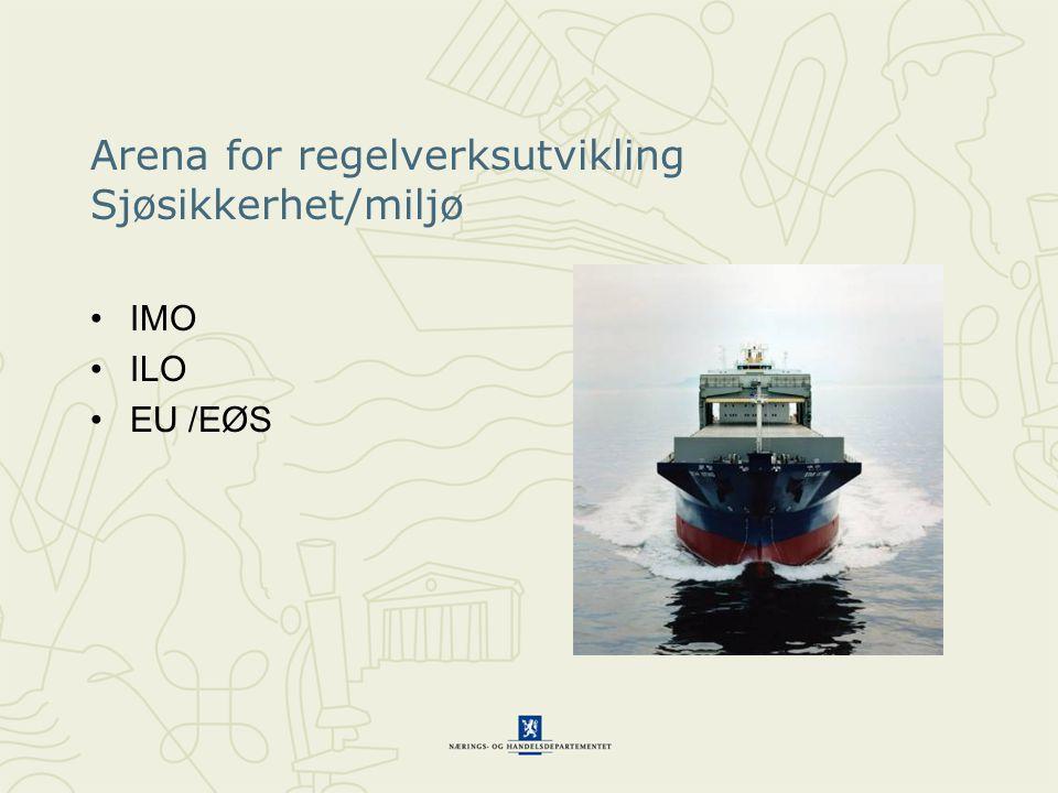 Arena for regelverksutvikling Sjøsikkerhet/miljø IMO ILO EU /EØS