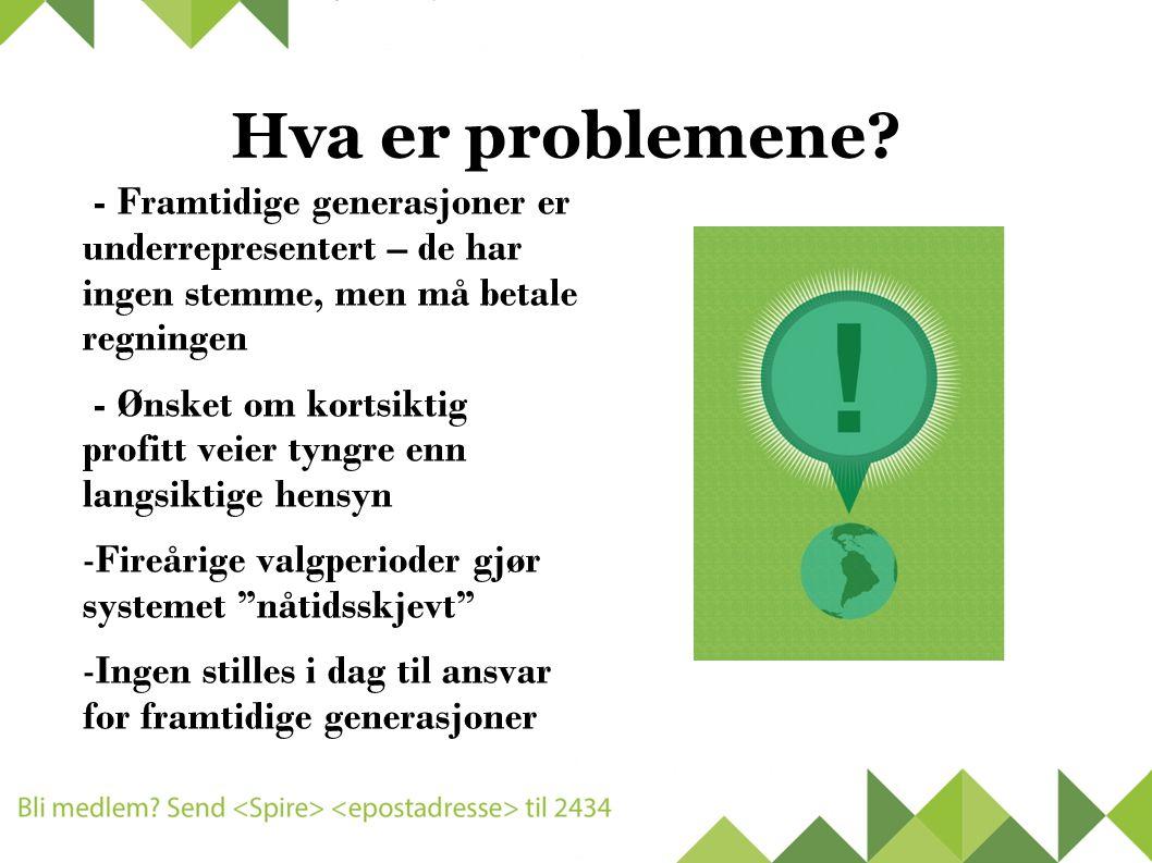 Hva er problemene.