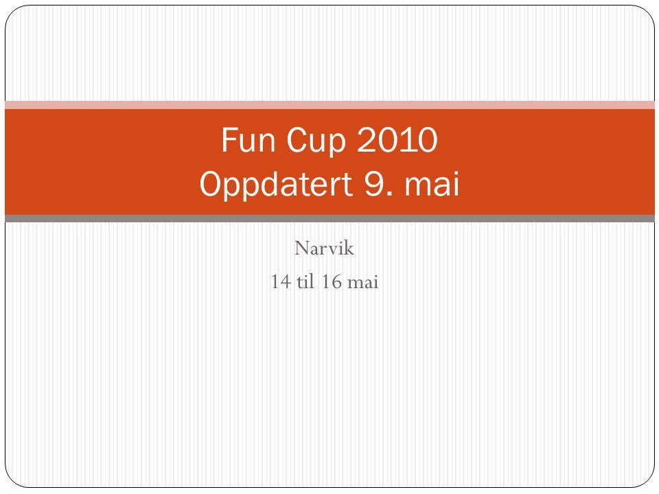 Narvik 14 til 16 mai Fun Cup 2010 Oppdatert 9. mai