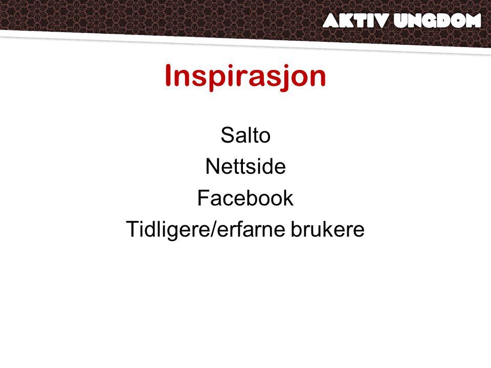 Inspirasjon Salto Nettside Facebook Tidligere/erfarne brukere