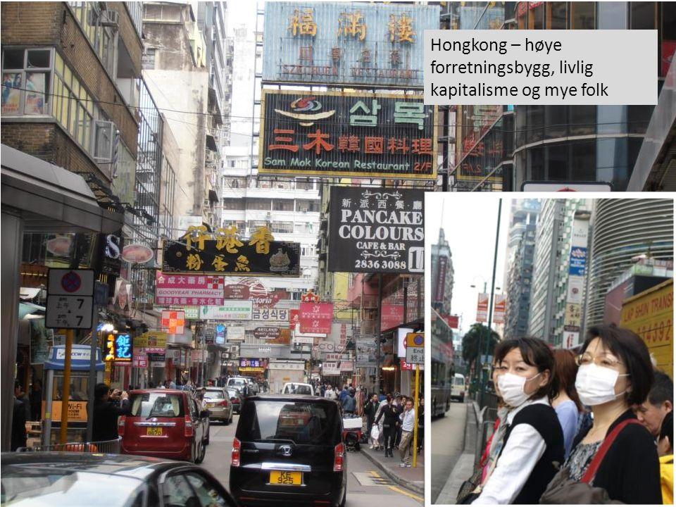 Hongkong – høye forretningsbygg, livlig kapitalisme og mye folk