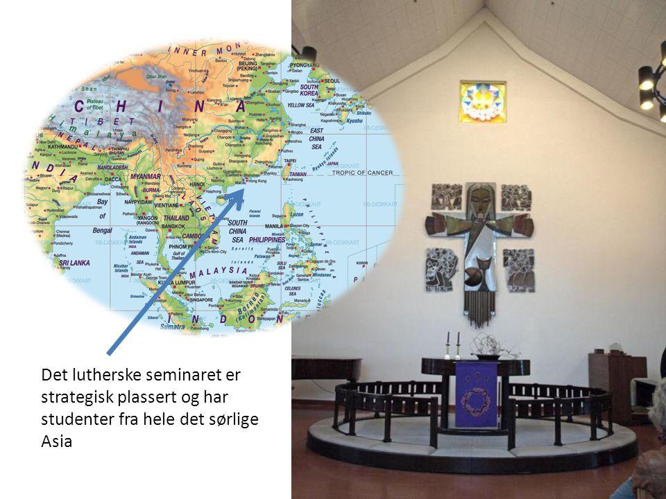 Det lutherske seminaret er strategisk plassert og har studenter fra hele det sørlige Asia