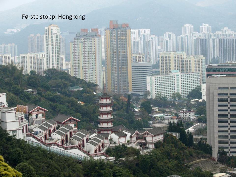 Første stopp: Hongkong