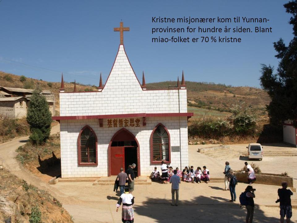 Kristne misjonærer kom til Yunnan- provinsen for hundre år siden. Blant miao-folket er 70 % kristne