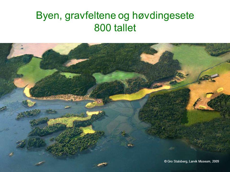 Byen, gravfeltene og høvdingesete 800 tallet © Gro Stalsberg, Larvik Museum, 2009
