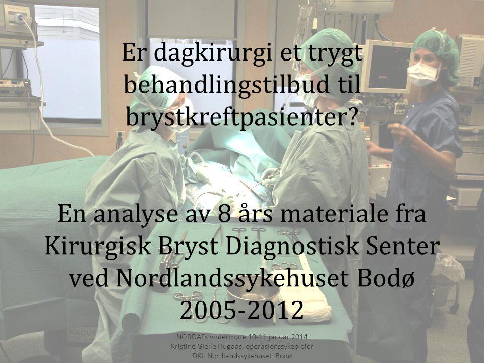 Årsak til inngrep utført på Sentraloperasjon NORDAFs vintermøte 10-11 januar 2014 Kristine Gjelle Hugaas, operasjonssykepleier DKI, Nordlandssykehuset Bodø