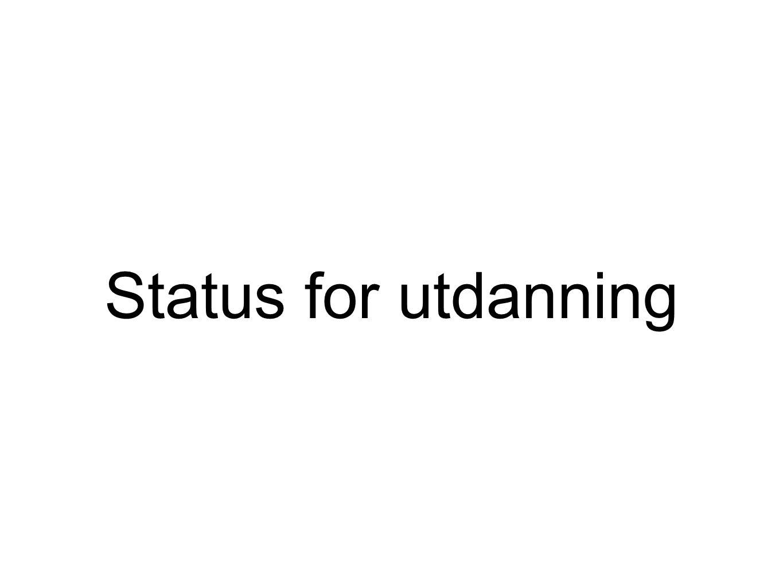 Status for utdanning