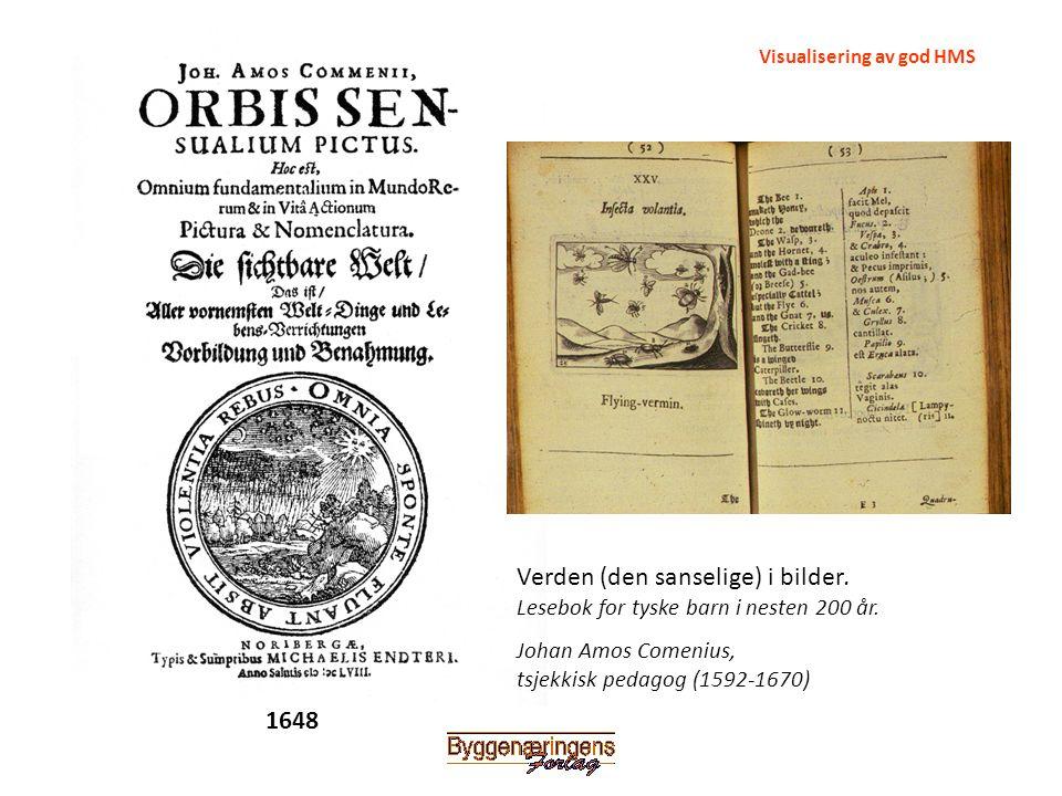 Johan Amos Comenius, tsjekkisk pedagog (1592-1670) Verden (den sanselige) i bilder. Lesebok for tyske barn i nesten 200 år. Visualisering av god HMS 1