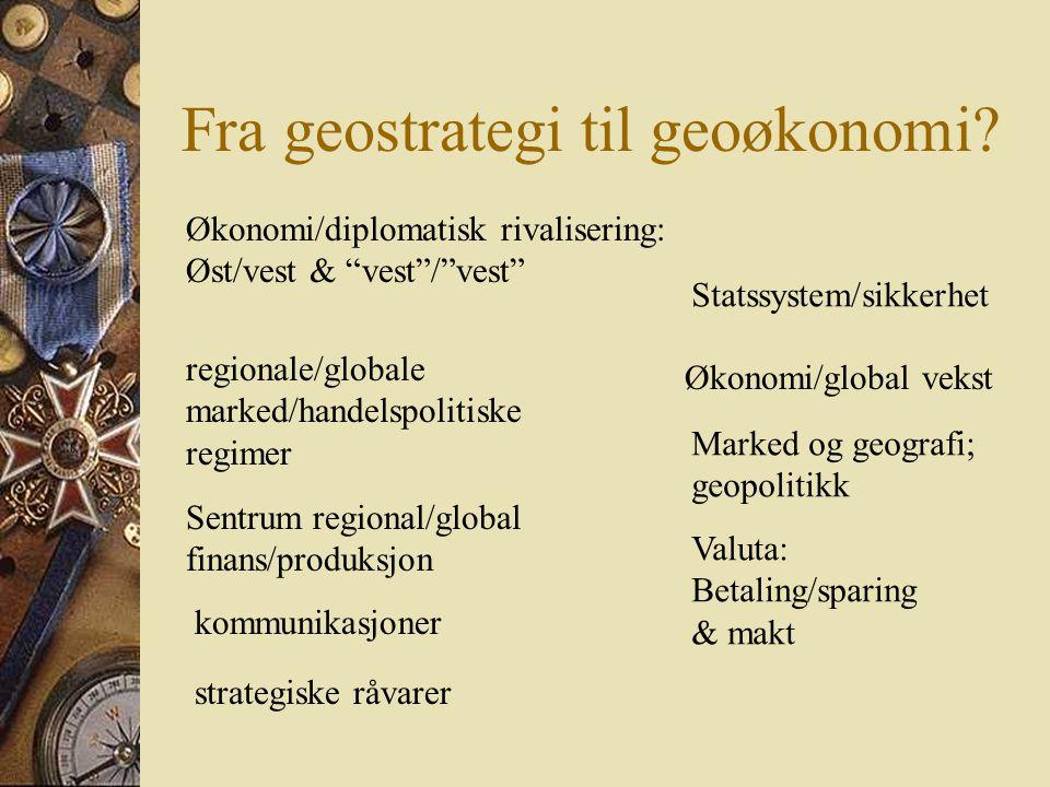 Fra geostrategi til geoøkonomi.