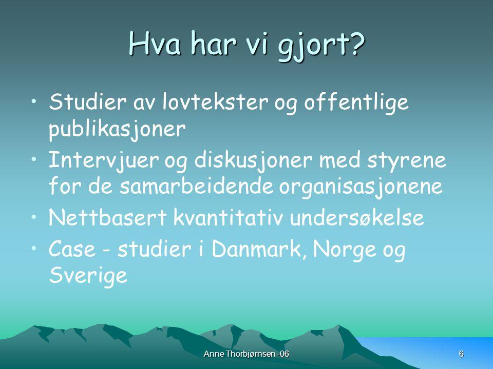 Anne Thorbjørnsen -067 Undervisning for å møte spesialpedagogiske behov eller spesialundervisning.