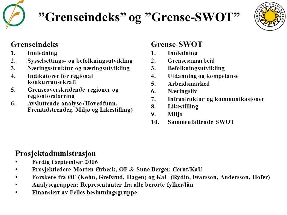 Grenseflytting Andel norsk/svenske statsborgere i befolkningen 31.12.2004