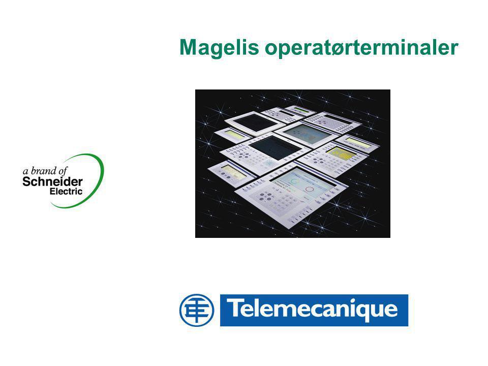 2 Schneider Electric Norge A/S - XBTF_2005_n.ppt Grafisk Magelis Dialog Fra tekst til grafikk Tekst Semi-grafisk