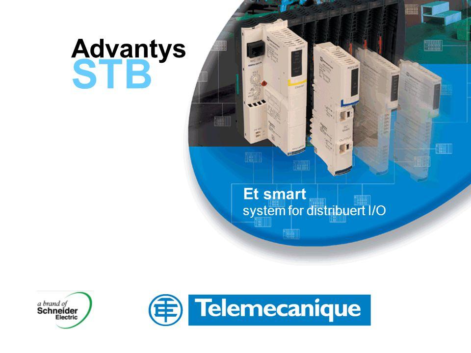 Advantys STB Plasser I/O akkurat der den trengs Plasser en utvidelsesmodul på slutten av hvert segment for å distribuere kommunikasjon videre til neste segment.