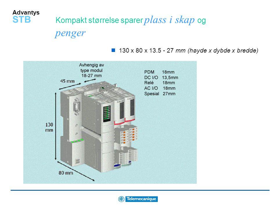 Advantys STB Plasser I/O akkurat der den trengs Plasser en utvidelsesmodul på slutten av hvert segment for å distribuere kommunikasjon videre til nest
