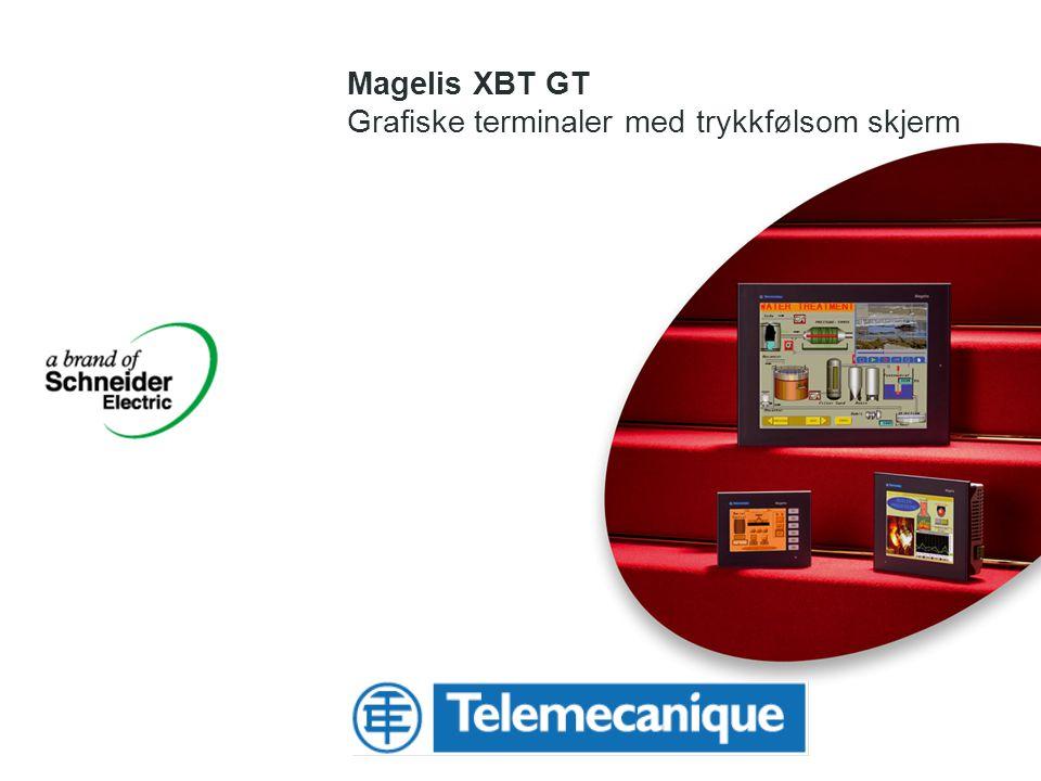 Magelis XBT GT Grafiske terminaler med trykkfølsom skjerm