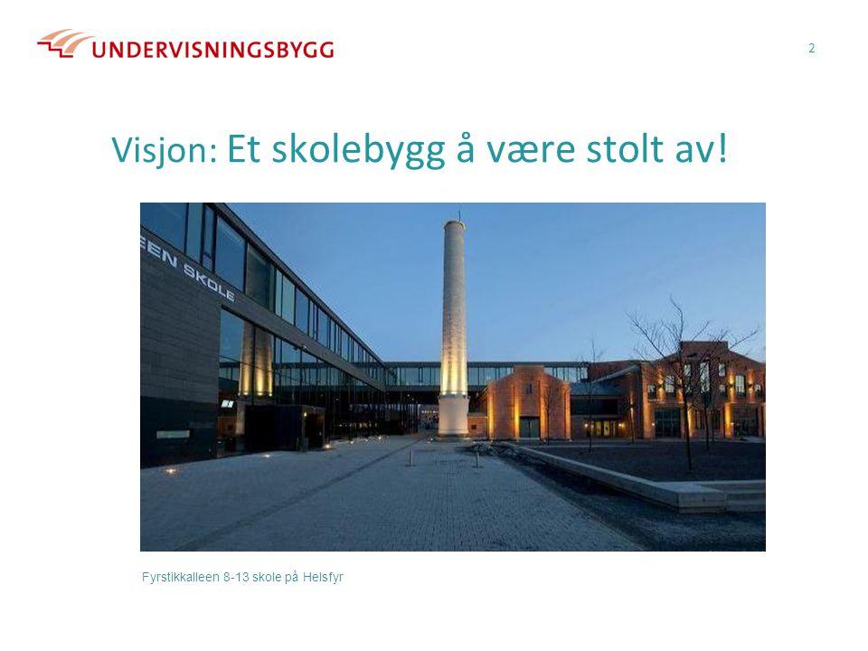 Visjon: Et skolebygg å være stolt av! 2 Fyrstikkalleen 8-13 skole på Helsfyr