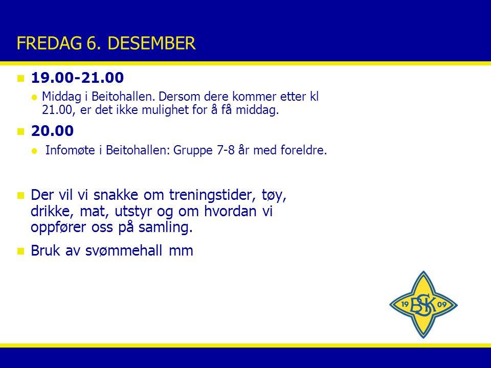 LØRDAG 7.DESEMBER n 7.30-9.00 Frokost i Beitohallen n 09.30-11.00 Første økt: skøyting.