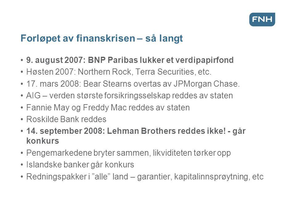 Forløpet av finanskrisen – så langt 9.