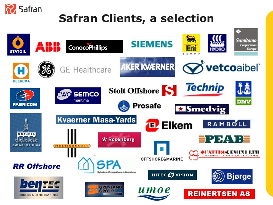 Safran Clients, a selection