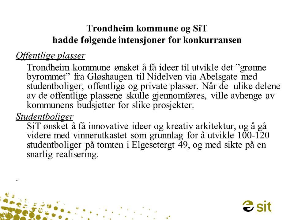 Vinnerutkastet: - offentlige og private plasser - studentboliger Fra Gløshaugen til Nidelven…..
