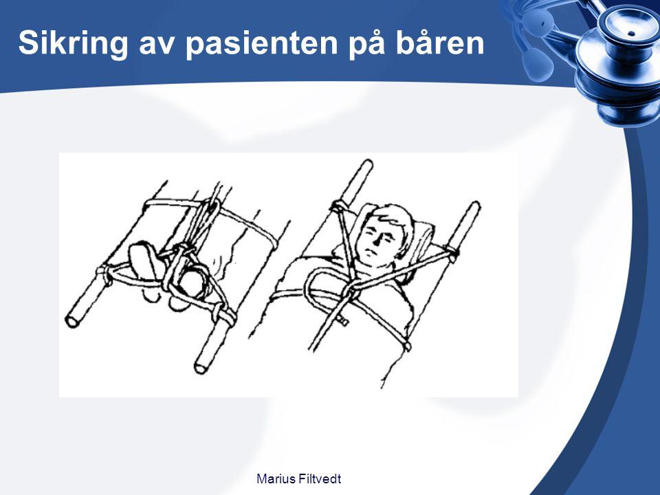 Sikring av pasienten på båren Marius Filtvedt