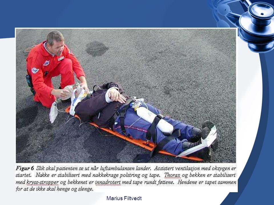 Immobilisering Hos alle hardt skadde pasienter må du mistenke columnaskader (ryggradskader).