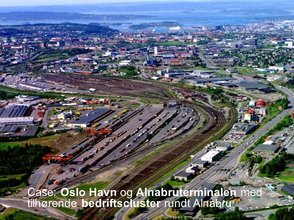 Teknologi og samfunn 3 Case: Oslo Havn og Alnabruterminalen med tilhørende bedriftscluster rundt Alnabru