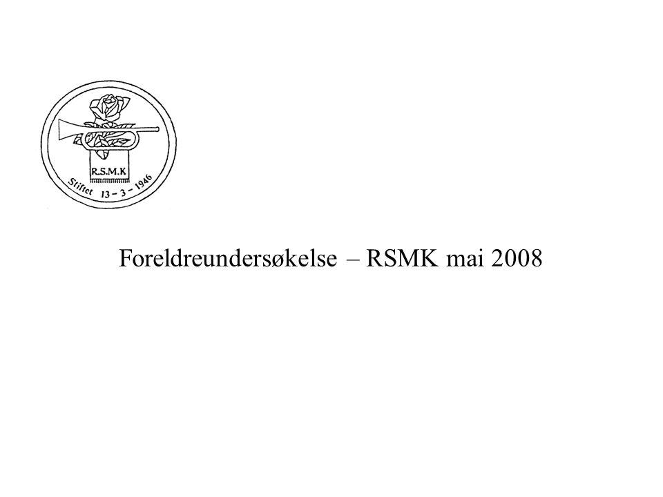 Foreldreundersøkelse – RSMK mai 2008