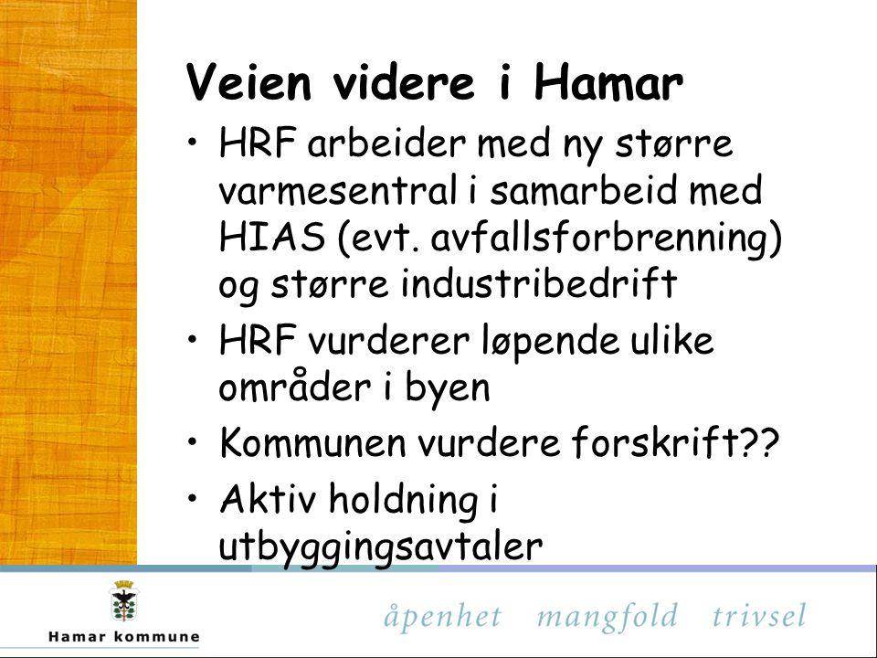 Veien videre i Hamar HRF arbeider med ny større varmesentral i samarbeid med HIAS (evt.